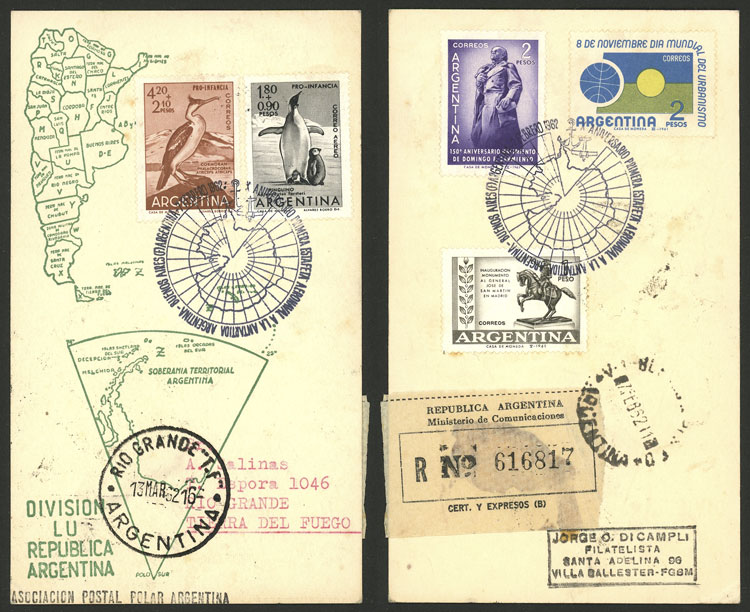 Lot 1189 - Argentina postal history -  Guillermo Jalil - Philatino Auction # 2109 ARGENTINA: great auction with very interesting lots, low starts!