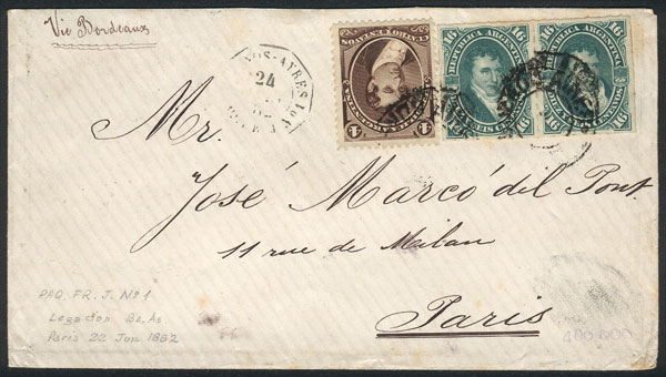 Lot 144 - Argentina general issues -  Guillermo Jalil - Philatino Auction # 2109 ARGENTINA: great auction with very interesting lots, low starts!