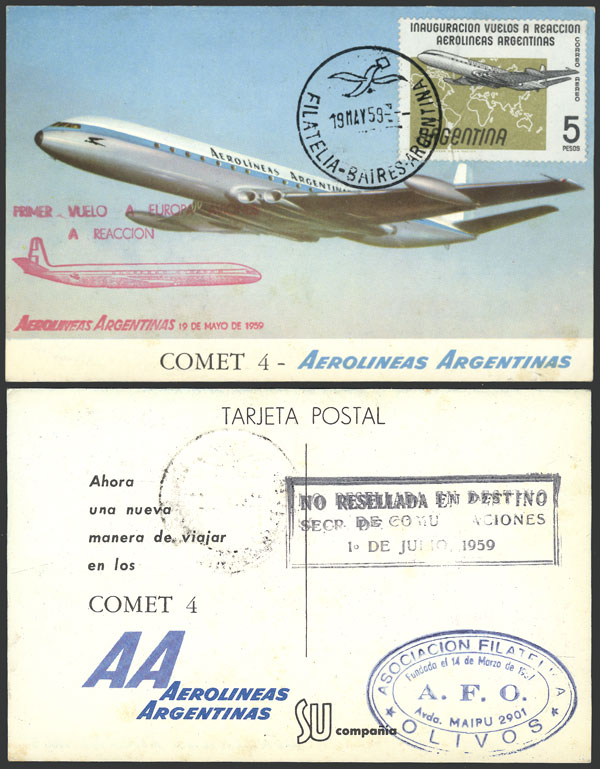 Lot 1182 - Argentina postal history -  Guillermo Jalil - Philatino Auction # 2109 ARGENTINA: great auction with very interesting lots, low starts!