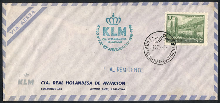 Lot 1183 - Argentina postal history -  Guillermo Jalil - Philatino Auction # 2109 ARGENTINA: great auction with very interesting lots, low starts!