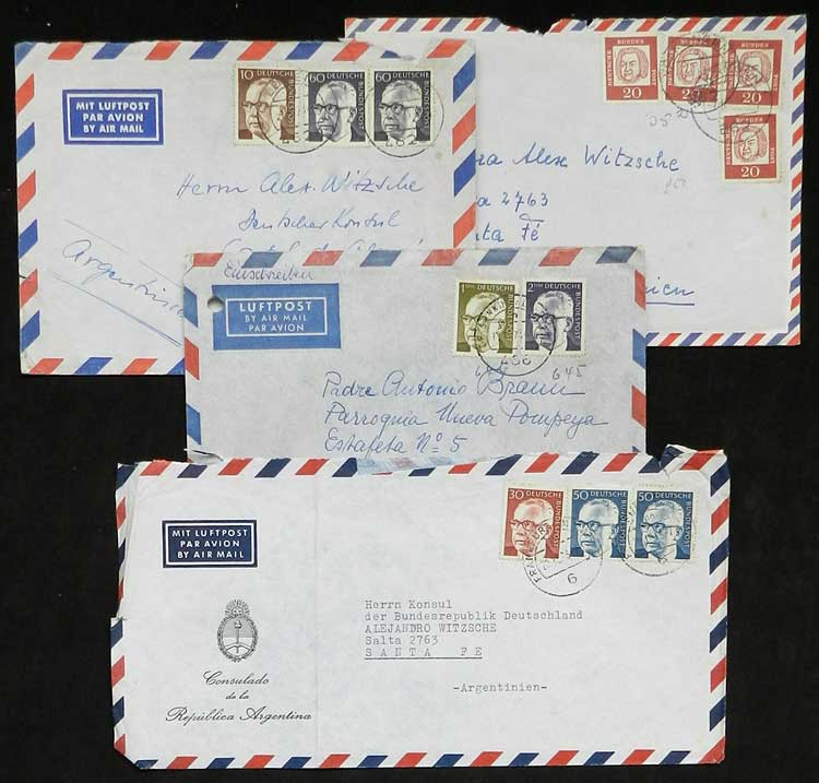 Lot 120 - west germany postal history -  Guillermo Jalil - Philatino Auction # 2110 WORLDWIDE + ARGENTINA: End of Summer auction