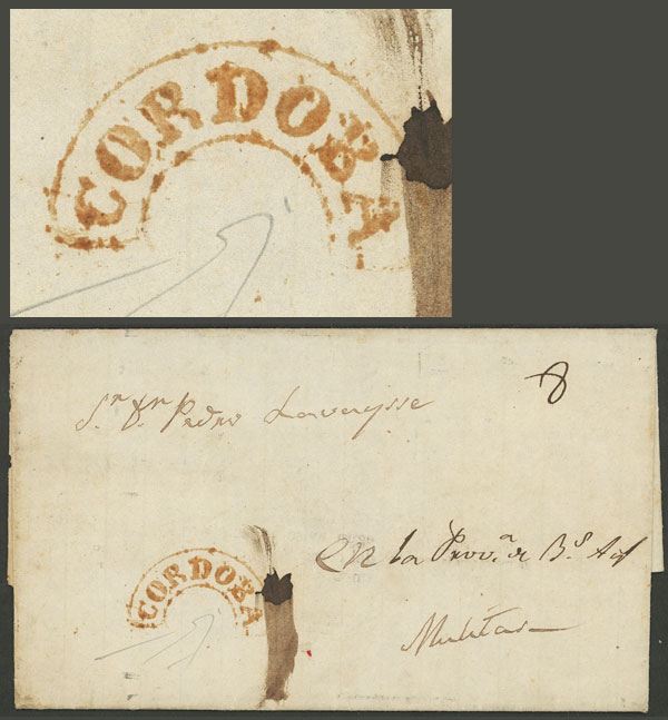 Lot 313 - Argentina pre-stamp mail -  Guillermo Jalil - Philatino Auction # 2110 WORLDWIDE + ARGENTINA: End of Summer auction