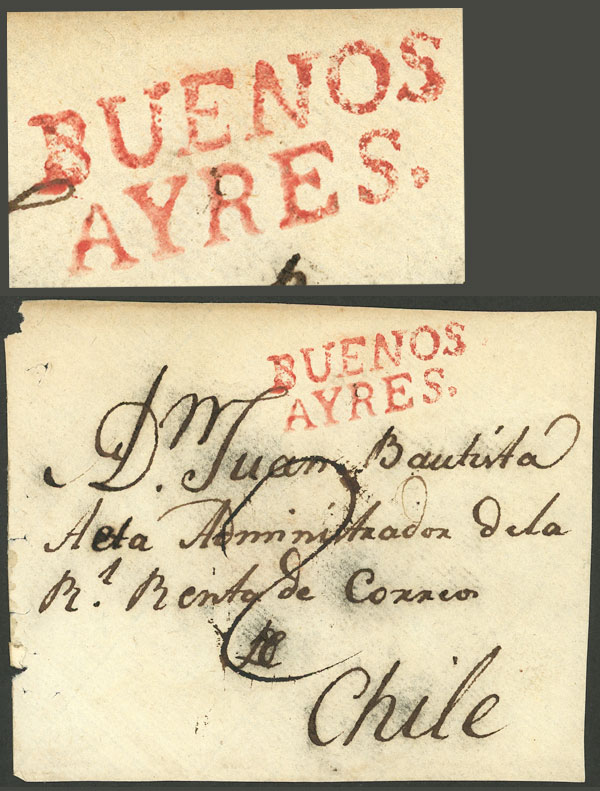 Lot 312 - Argentina pre-stamp mail -  Guillermo Jalil - Philatino Auction # 2110 WORLDWIDE + ARGENTINA: End of Summer auction