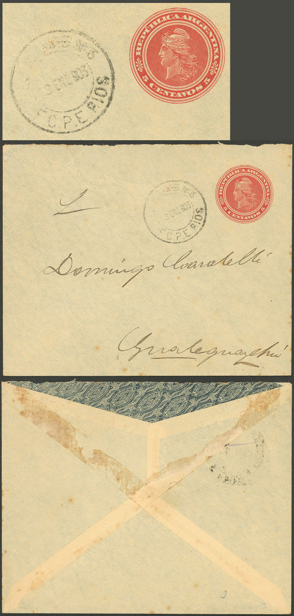 Lot 329 - Argentina postal history -  Guillermo Jalil - Philatino Auction # 2110 WORLDWIDE + ARGENTINA: End of Summer auction