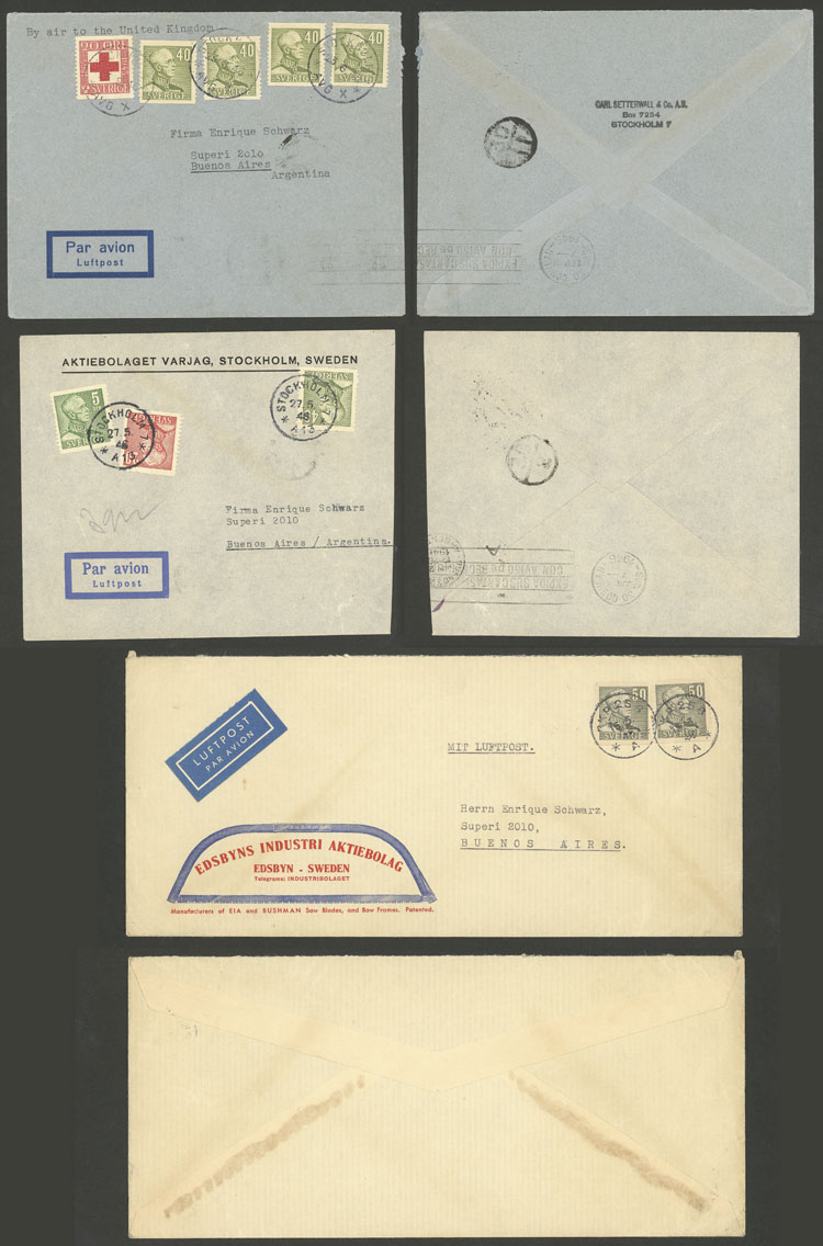Lot 1242 - Sweden postal history -  Guillermo Jalil - Philatino Auction # 2110 WORLDWIDE + ARGENTINA: End of Summer auction
