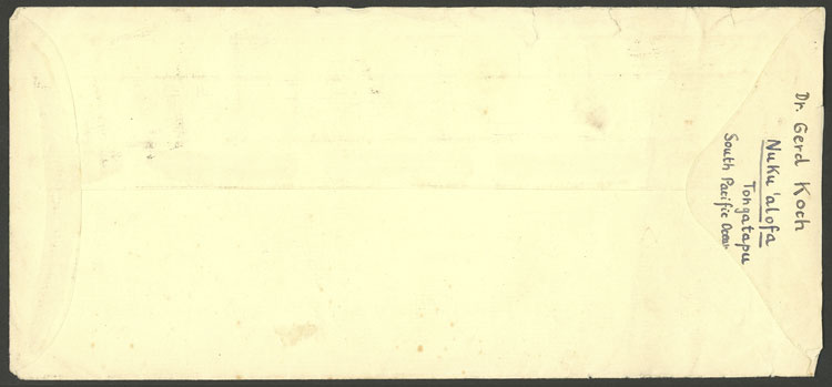 Lot 1294 - tonga postal history -  Guillermo Jalil - Philatino Auction # 2110 WORLDWIDE + ARGENTINA: End of Summer auction