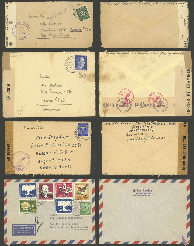 Lot 96 - germany postal history -  Guillermo Jalil - Philatino Auction # 2110 WORLDWIDE + ARGENTINA: End of Summer auction