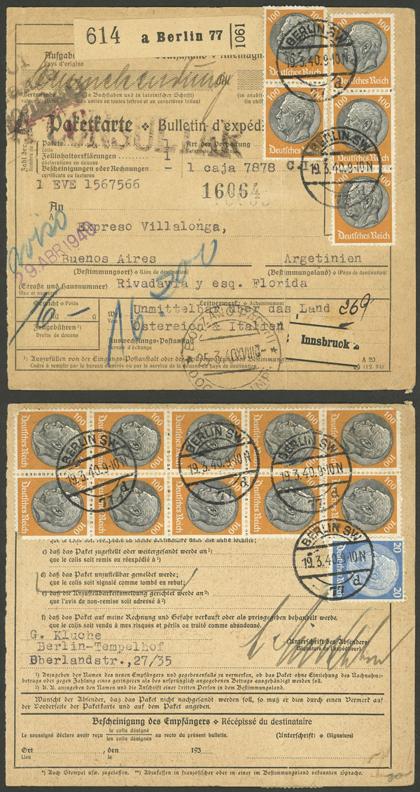 Lot 93 - germany postal history -  Guillermo Jalil - Philatino Auction # 2110 WORLDWIDE + ARGENTINA: End of Summer auction