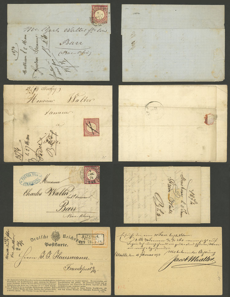 Lot 54 - germany postal history -  Guillermo Jalil - Philatino Auction # 2110 WORLDWIDE + ARGENTINA: End of Summer auction