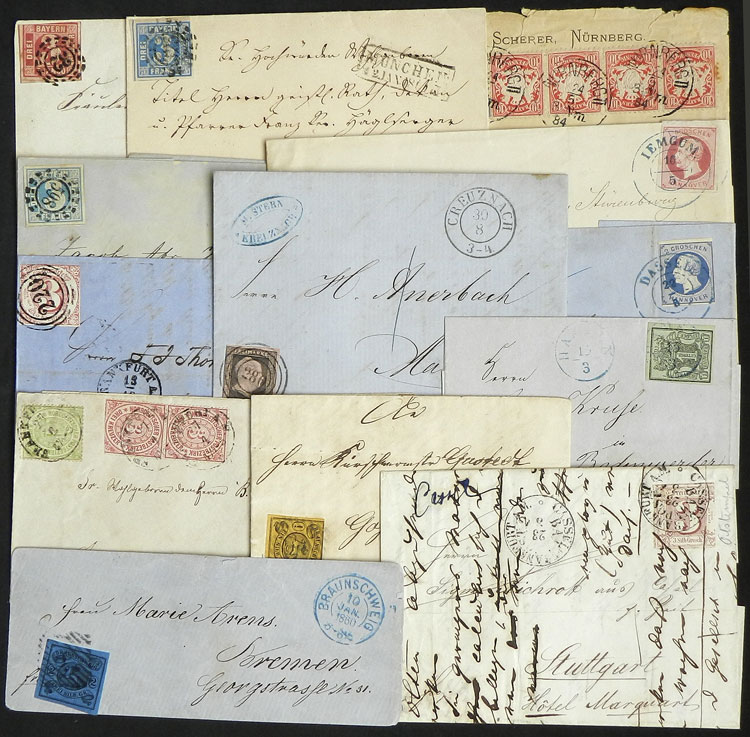 Lot 51 - germany postal history -  Guillermo Jalil - Philatino Auction # 2110 WORLDWIDE + ARGENTINA: End of Summer auction