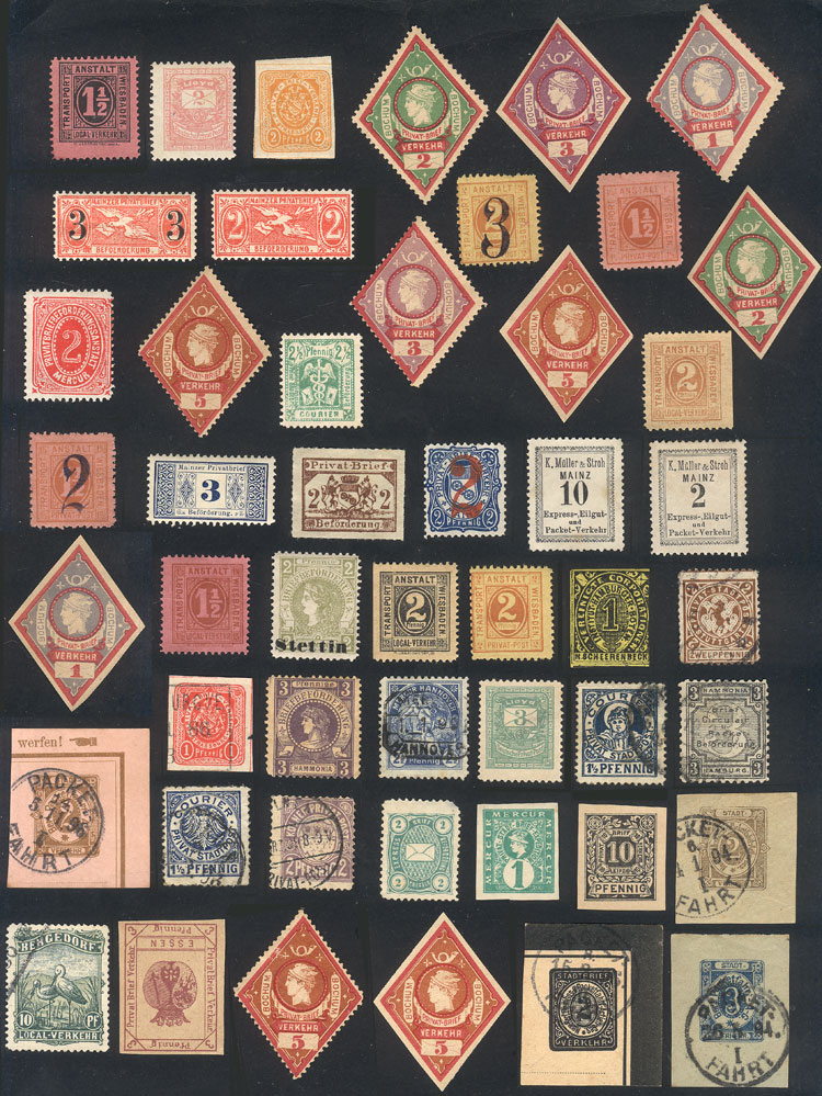 Lot 102 - germany local stamps -  Guillermo Jalil - Philatino Auction # 2110 WORLDWIDE + ARGENTINA: End of Summer auction
