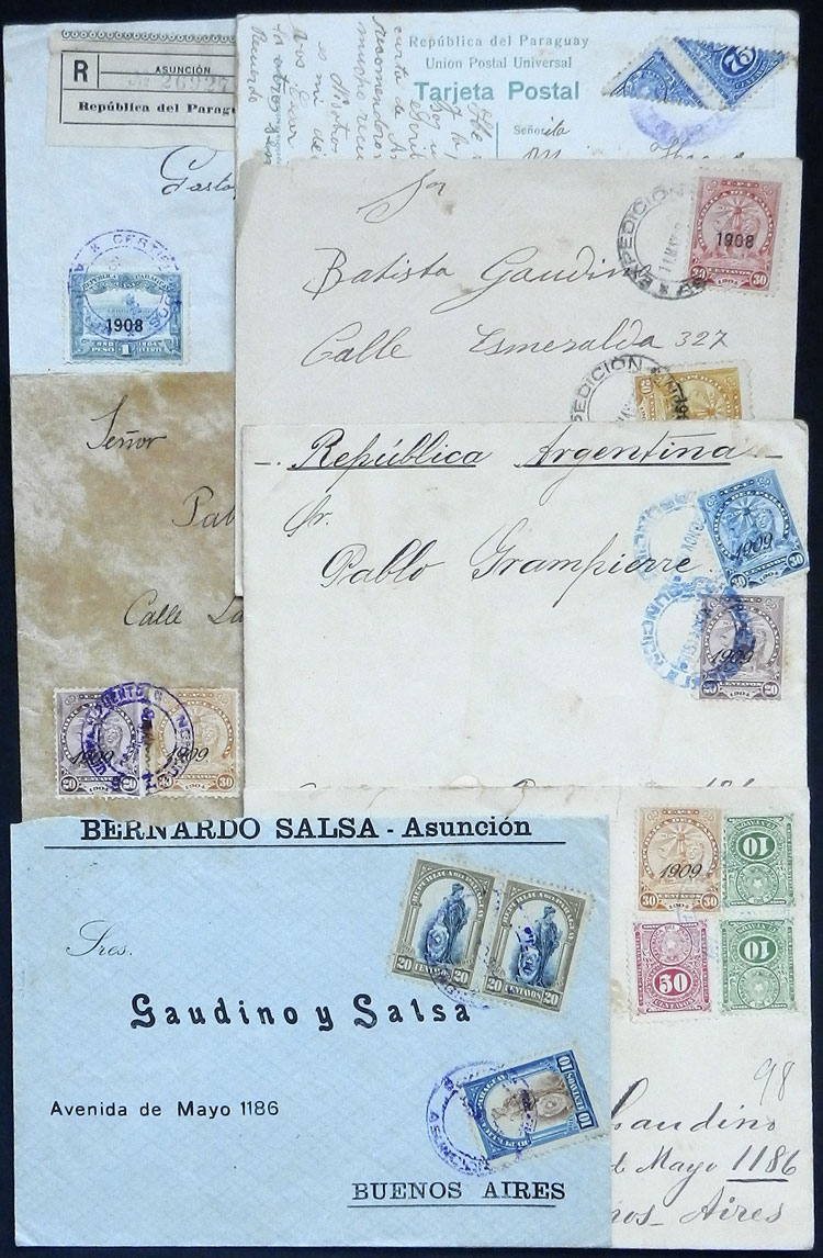 Lot 1158 - Paraguay postal history -  Guillermo Jalil - Philatino Auction # 2110 WORLDWIDE + ARGENTINA: End of Summer auction