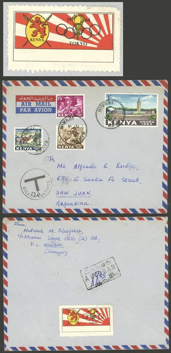 Lot 1048 - kenya postal history -  Guillermo Jalil - Philatino Auction # 2110 WORLDWIDE + ARGENTINA: End of Summer auction