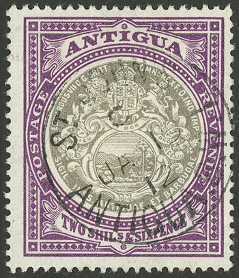 Lot 142 - antigua general issues -  Guillermo Jalil - Philatino Auction # 2110 WORLDWIDE + ARGENTINA: End of Summer auction