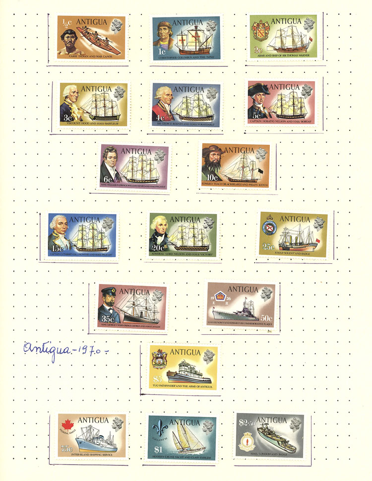 Lot 147 - antigua Lots and Collections -  Guillermo Jalil - Philatino Auction # 2110 WORLDWIDE + ARGENTINA: End of Summer auction