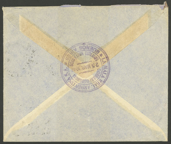 Lot 364 - Argentina postal history -  Guillermo Jalil - Philatino Auction # 2110 WORLDWIDE + ARGENTINA: End of Summer auction