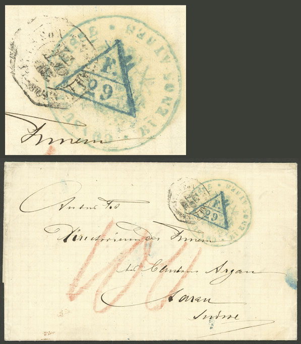 Lot 316 - Argentina postal history -  Guillermo Jalil - Philatino Auction # 2110 WORLDWIDE + ARGENTINA: End of Summer auction