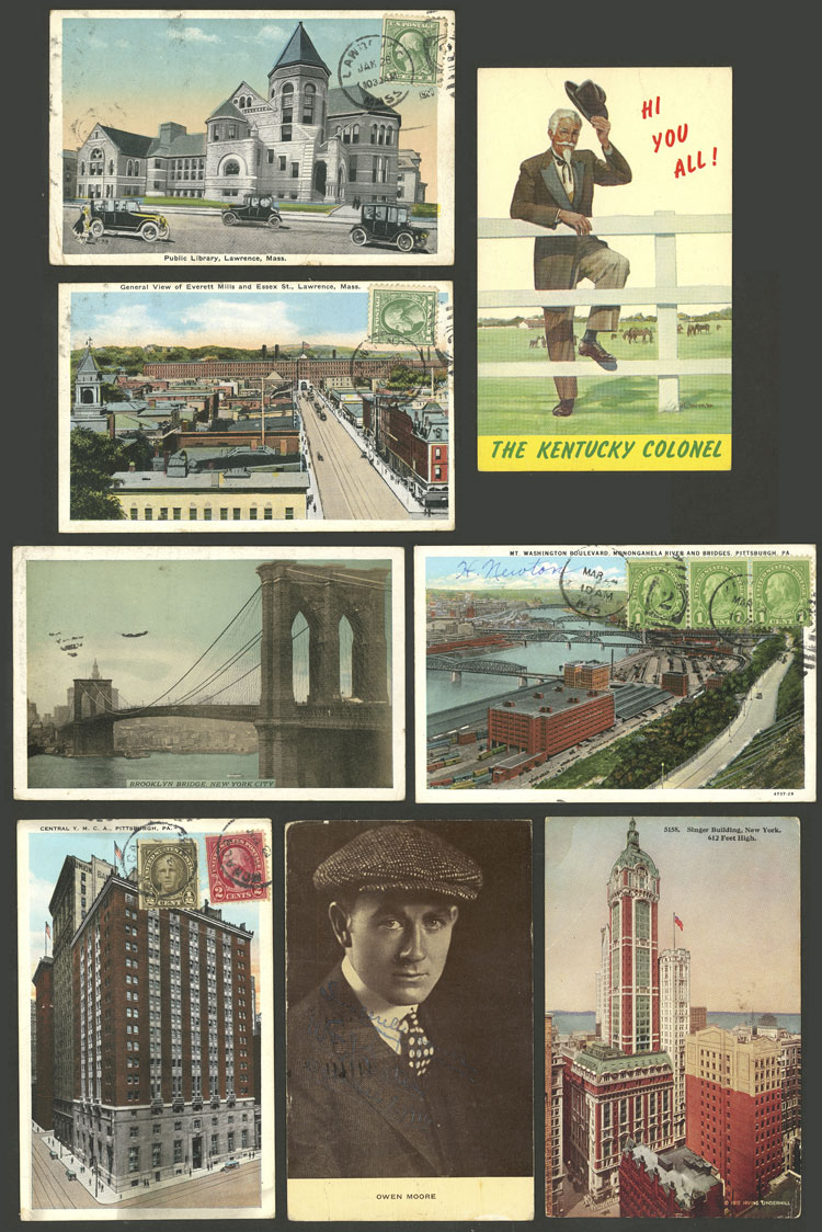 Lot 788 - united states postcards -  Guillermo Jalil - Philatino Auction # 2110 WORLDWIDE + ARGENTINA: End of Summer auction