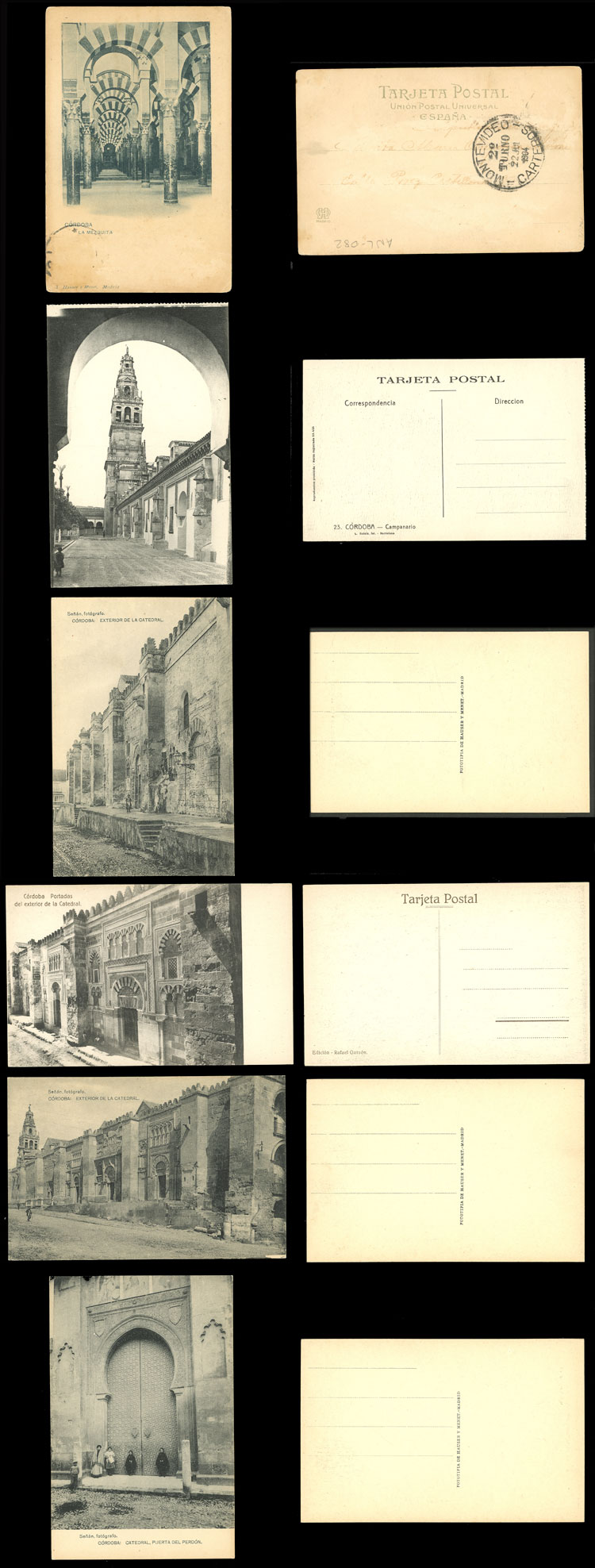 Lot 760 - Spain postcards -  Guillermo Jalil - Philatino Auction # 2110 WORLDWIDE + ARGENTINA: End of Summer auction