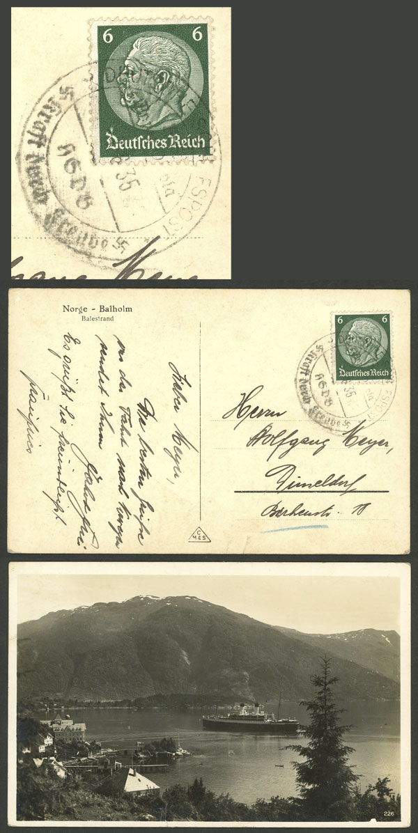 Lot 84 - germany postal history -  Guillermo Jalil - Philatino Auction # 2110 WORLDWIDE + ARGENTINA: End of Summer auction