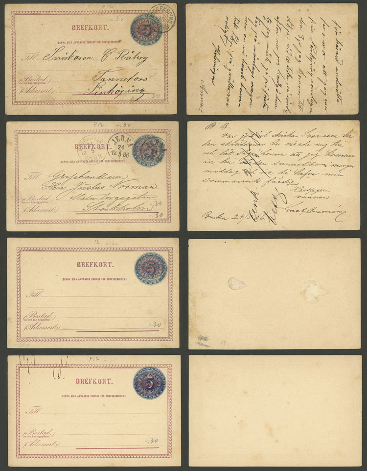 Lot 1238 - Sweden Postal stationery -  Guillermo Jalil - Philatino Auction # 2110 WORLDWIDE + ARGENTINA: End of Summer auction