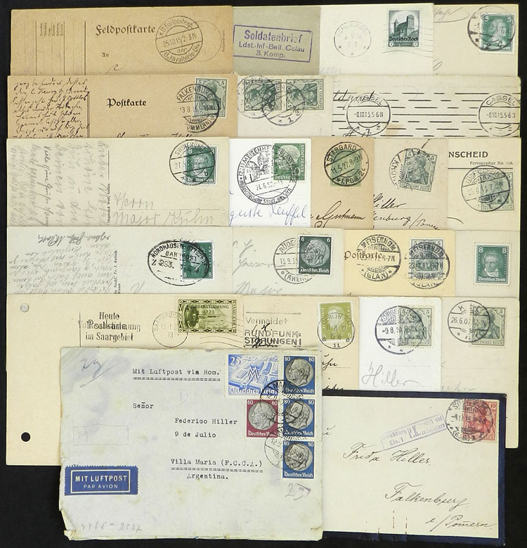 Lot 90 - germany postal history -  Guillermo Jalil - Philatino Auction # 2110 WORLDWIDE + ARGENTINA: End of Summer auction