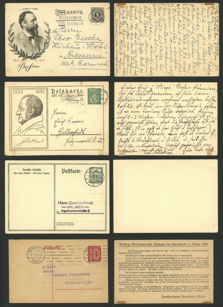Lot 48 - germany Postal stationery -  Guillermo Jalil - Philatino Auction # 2110 WORLDWIDE + ARGENTINA: End of Summer auction
