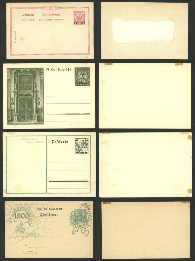 Lot 49 - germany Postal stationery -  Guillermo Jalil - Philatino Auction # 2110 WORLDWIDE + ARGENTINA: End of Summer auction