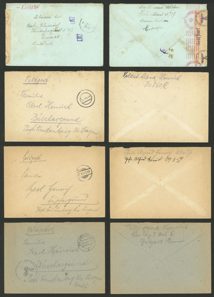 Lot 92 - germany postal history -  Guillermo Jalil - Philatino Auction # 2110 WORLDWIDE + ARGENTINA: End of Summer auction