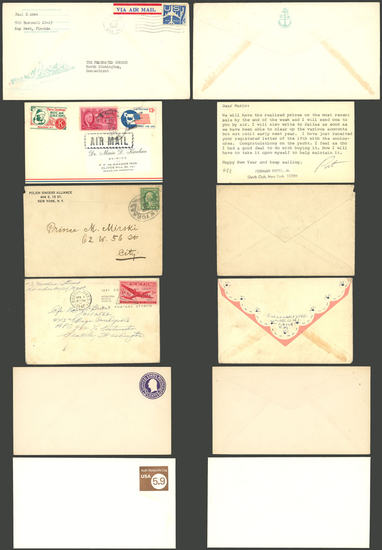 Lot 777 - united states postal history -  Guillermo Jalil - Philatino Auction # 2110 WORLDWIDE + ARGENTINA: End of Summer auction