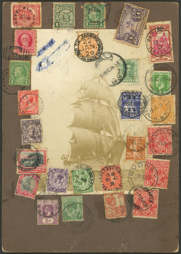Lot 11 - topic ships postal history -  Guillermo Jalil - Philatino Auction # 2110 WORLDWIDE + ARGENTINA: End of Summer auction