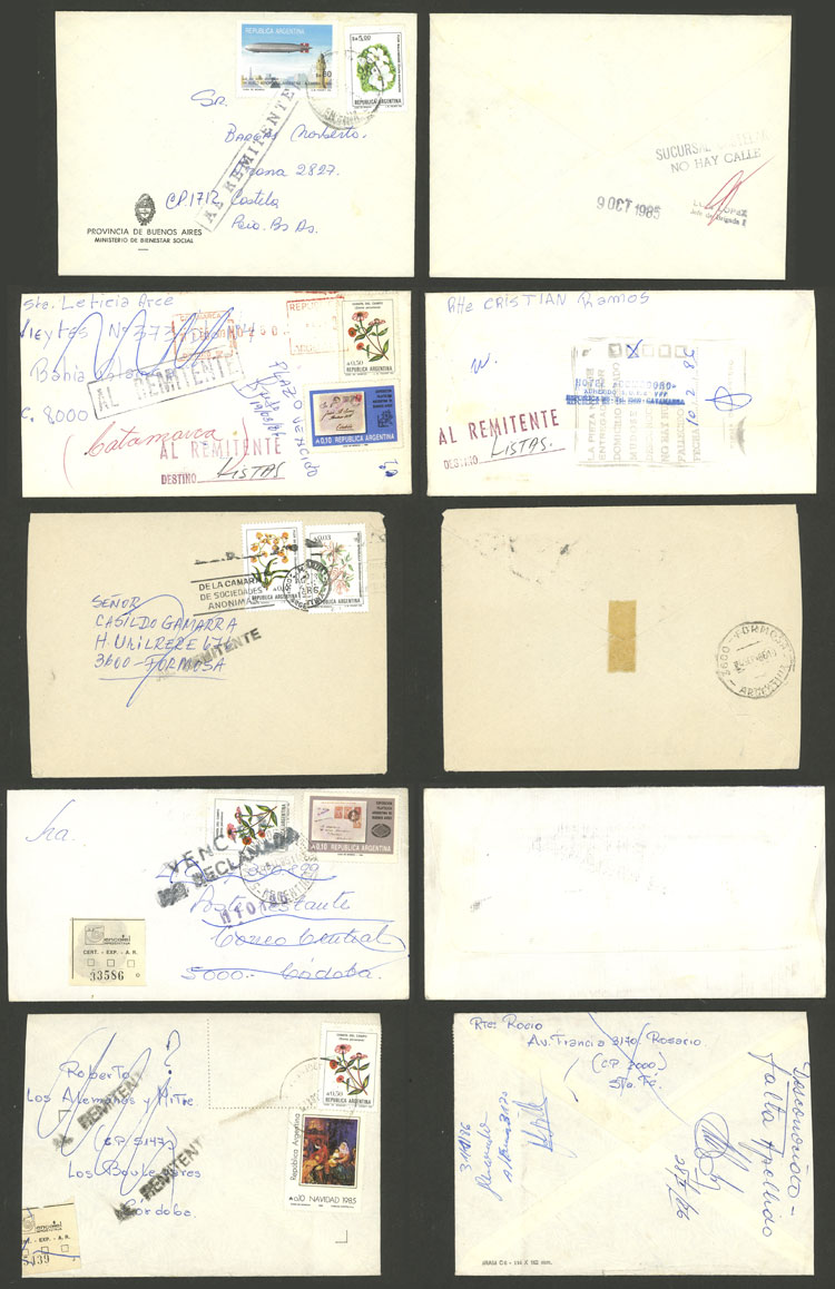 Lot 411 - Argentina postal history -  Guillermo Jalil - Philatino Auction # 2110 WORLDWIDE + ARGENTINA: End of Summer auction