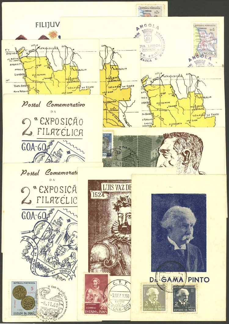 Lot 674 - portuguese colonies Lots and Collections -  Guillermo Jalil - Philatino Auction # 2110 WORLDWIDE + ARGENTINA: End of Summer auction