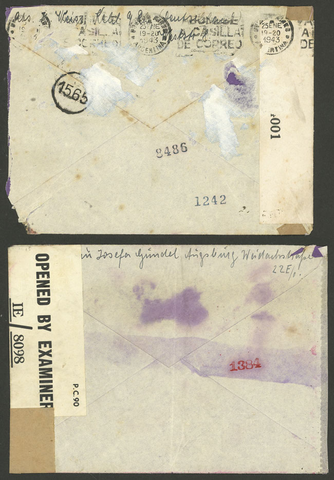 Lot 94 - germany postal history -  Guillermo Jalil - Philatino Auction # 2110 WORLDWIDE + ARGENTINA: End of Summer auction