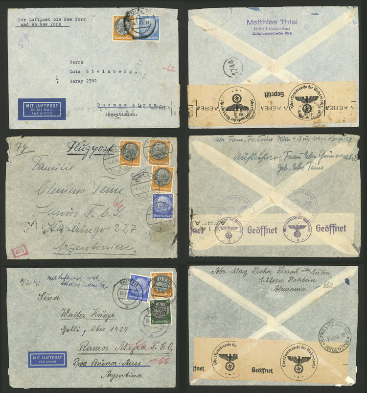 Lot 91 - germany postal history -  Guillermo Jalil - Philatino Auction # 2110 WORLDWIDE + ARGENTINA: End of Summer auction
