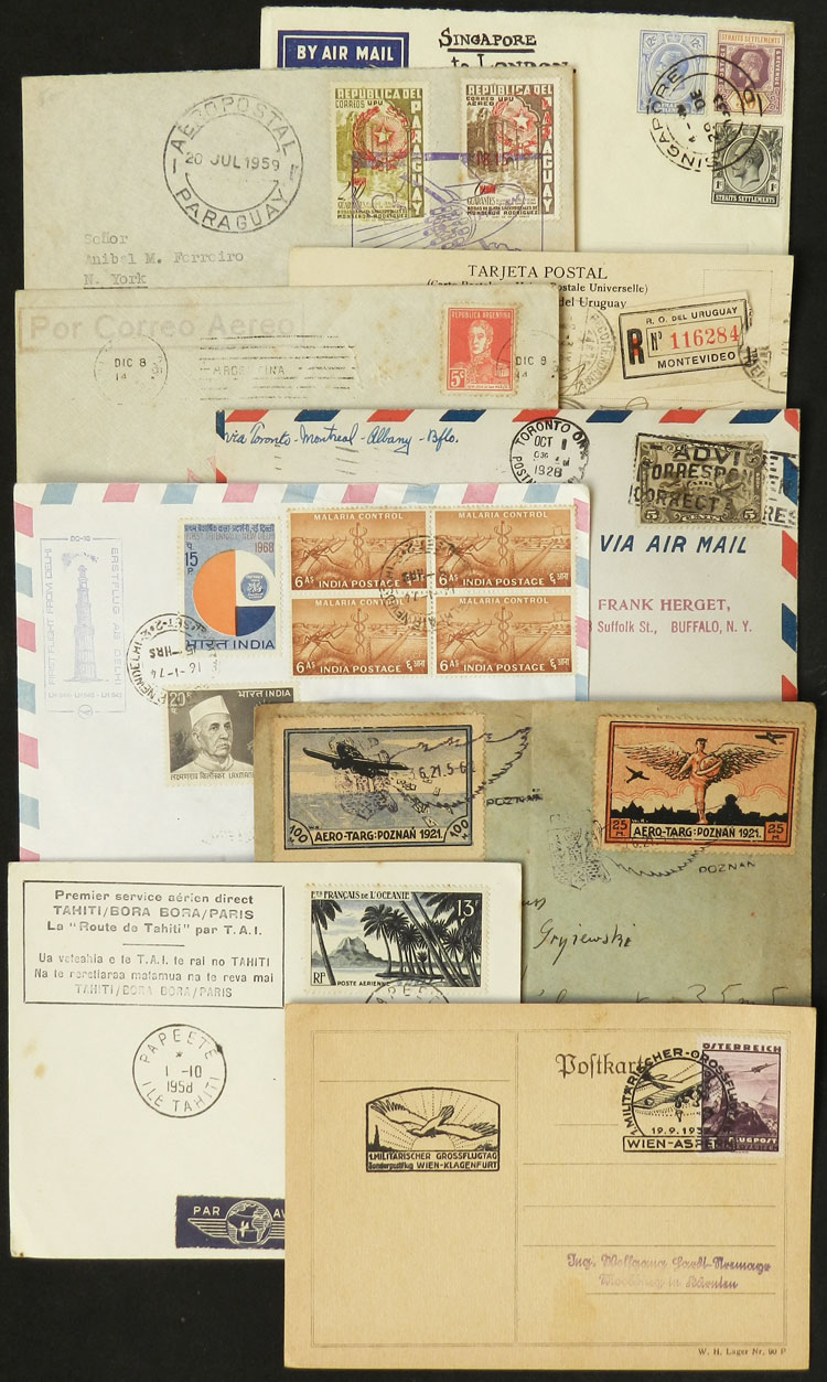 Lot 7 - topic aviation postal history -  Guillermo Jalil - Philatino Auction # 2110 WORLDWIDE + ARGENTINA: End of Summer auction