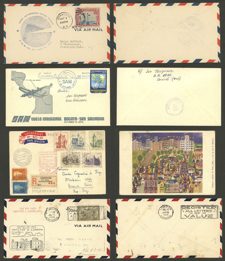 Lot 4 - topic aviation postal history -  Guillermo Jalil - Philatino Auction # 2110 WORLDWIDE + ARGENTINA: End of Summer auction