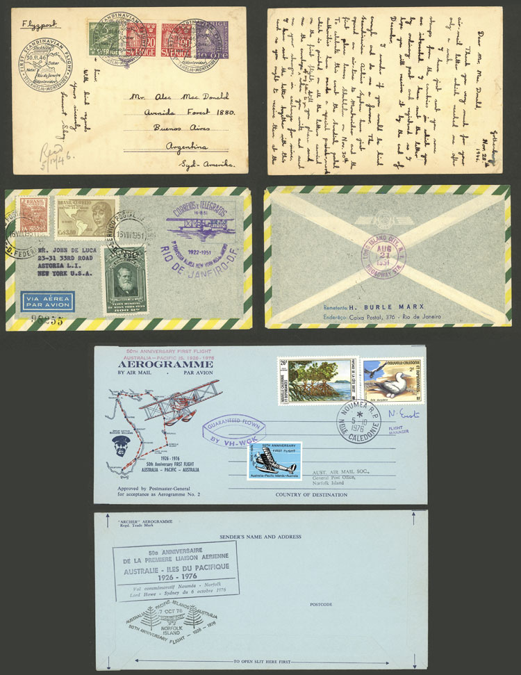 Lot 3 - topic aviation postal history -  Guillermo Jalil - Philatino Auction # 2110 WORLDWIDE + ARGENTINA: End of Summer auction