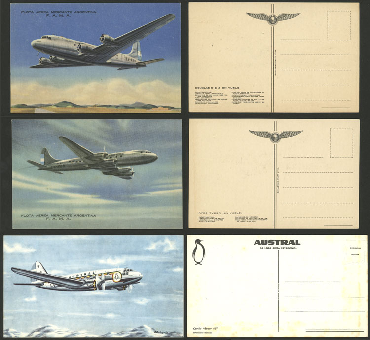 Lot 10 - topic aviation postcards -  Guillermo Jalil - Philatino Auction # 2110 WORLDWIDE + ARGENTINA: End of Summer auction