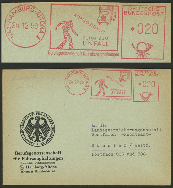 Lot 122 - west germany postal history -  Guillermo Jalil - Philatino Auction # 2110 WORLDWIDE + ARGENTINA: End of Summer auction