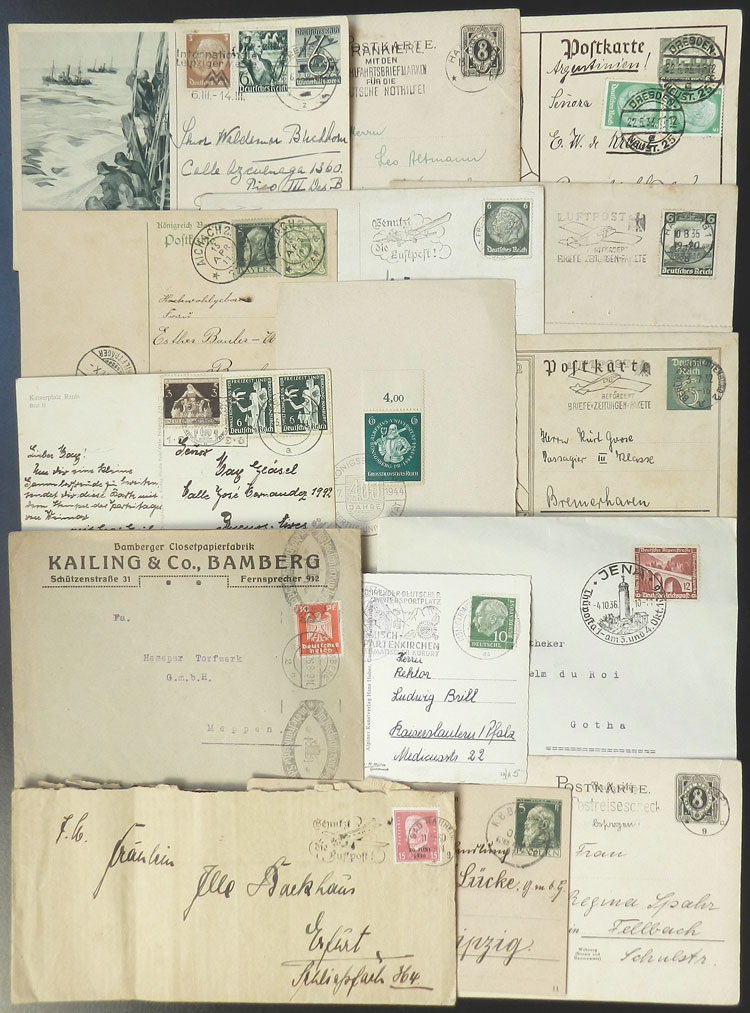 Lot 75 - germany postal history -  Guillermo Jalil - Philatino Auction # 2110 WORLDWIDE + ARGENTINA: End of Summer auction