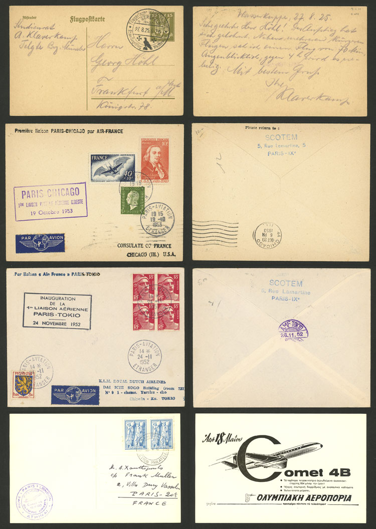 Lot 5 - topic aviation postal history -  Guillermo Jalil - Philatino Auction # 2110 WORLDWIDE + ARGENTINA: End of Summer auction