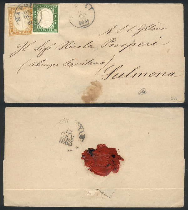 Lot 975 - Italy postal history -  Guillermo Jalil - Philatino Auction # 2110 WORLDWIDE + ARGENTINA: End of Summer auction