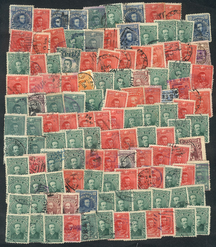Lot 584 - bolivia Lots and Collections -  Guillermo Jalil - Philatino Auction # 2110 WORLDWIDE + ARGENTINA: End of Summer auction
