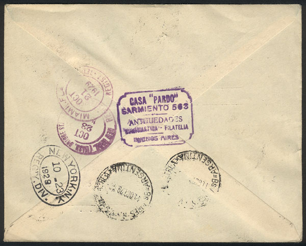 Lot 342 - Argentina postal history -  Guillermo Jalil - Philatino Auction # 2110 WORLDWIDE + ARGENTINA: End of Summer auction