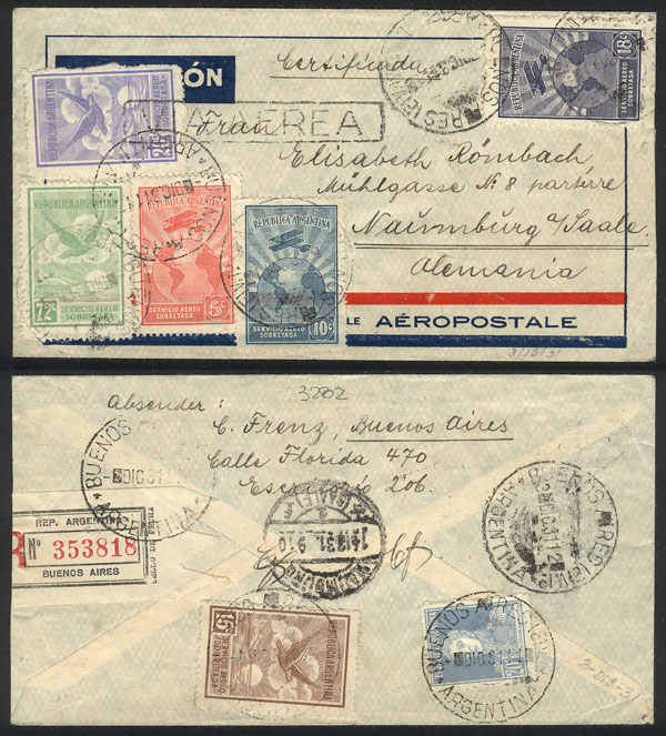 Lot 348 - Argentina postal history -  Guillermo Jalil - Philatino Auction # 2110 WORLDWIDE + ARGENTINA: End of Summer auction