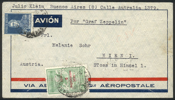 Lot 347 - Argentina postal history -  Guillermo Jalil - Philatino Auction # 2110 WORLDWIDE + ARGENTINA: End of Summer auction