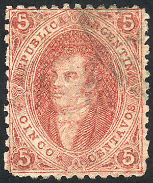 Lot 157 - Argentina rivadavias -  Guillermo Jalil - Philatino Auction # 2110 WORLDWIDE + ARGENTINA: End of Summer auction