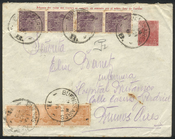 Lot 338 - Argentina postal history -  Guillermo Jalil - Philatino Auction # 2110 WORLDWIDE + ARGENTINA: End of Summer auction