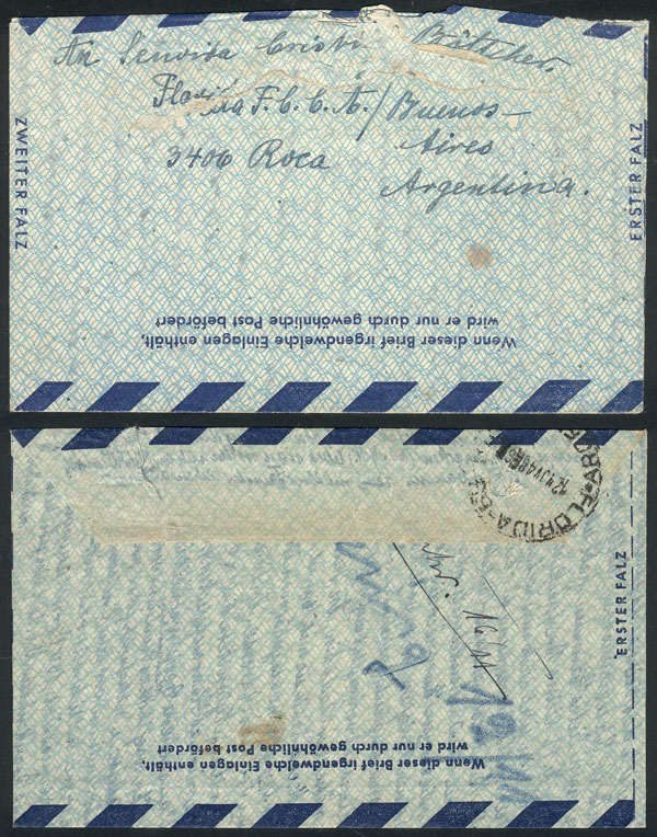 Lot 119 - west germany postal history -  Guillermo Jalil - Philatino Auction # 2110 WORLDWIDE + ARGENTINA: End of Summer auction